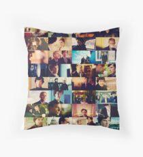 sherlock bbc caps Throw Pillow
