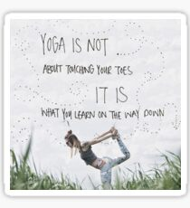 What Yoga is about... Sticker