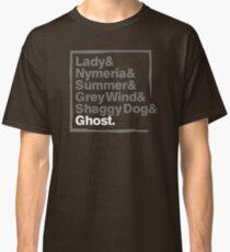 Stark Direwolves / Die Schattenwölfe des Haus Stark Classic T-Shirt