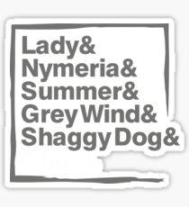 Stark Direwolves / Die Schattenwölfe des Haus Stark Sticker