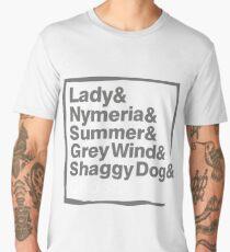 Stark Direwolves / Die Schattenwölfe des Haus Stark Men's Premium T-Shirt