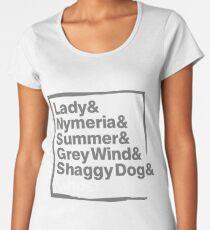 Stark Direwolves / Die Schattenwölfe des Haus Stark Women's Premium T-Shirt