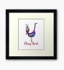 Classy Bird-Cute Fun design Framed Print