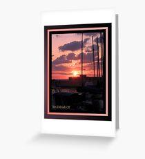 As the Sun Set at Jaffa Port Greeting Card