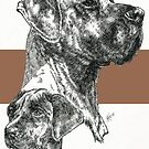 Great Dane (uncropped) Father & Son  by BarbBarcikKeith