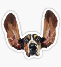 Basset Hound Low Poly Sticker
