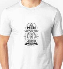All Men Are Created Equal But Legends Are Born In June - Birthday Gift  T-Shirt