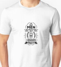 All Men Are Created Equal But Legends Are Born In October - Birthday Gift  T-Shirt