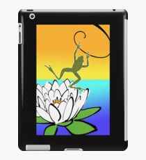 Leaping Frog, Lotus on the Water iPad Case/Skin