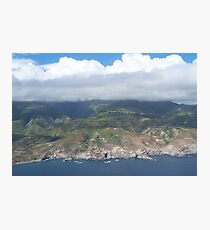 Flying over Hawaii Photographic Print