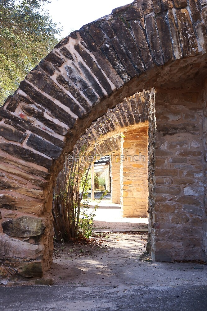 Arches Mission San Jose by jeanettefrench