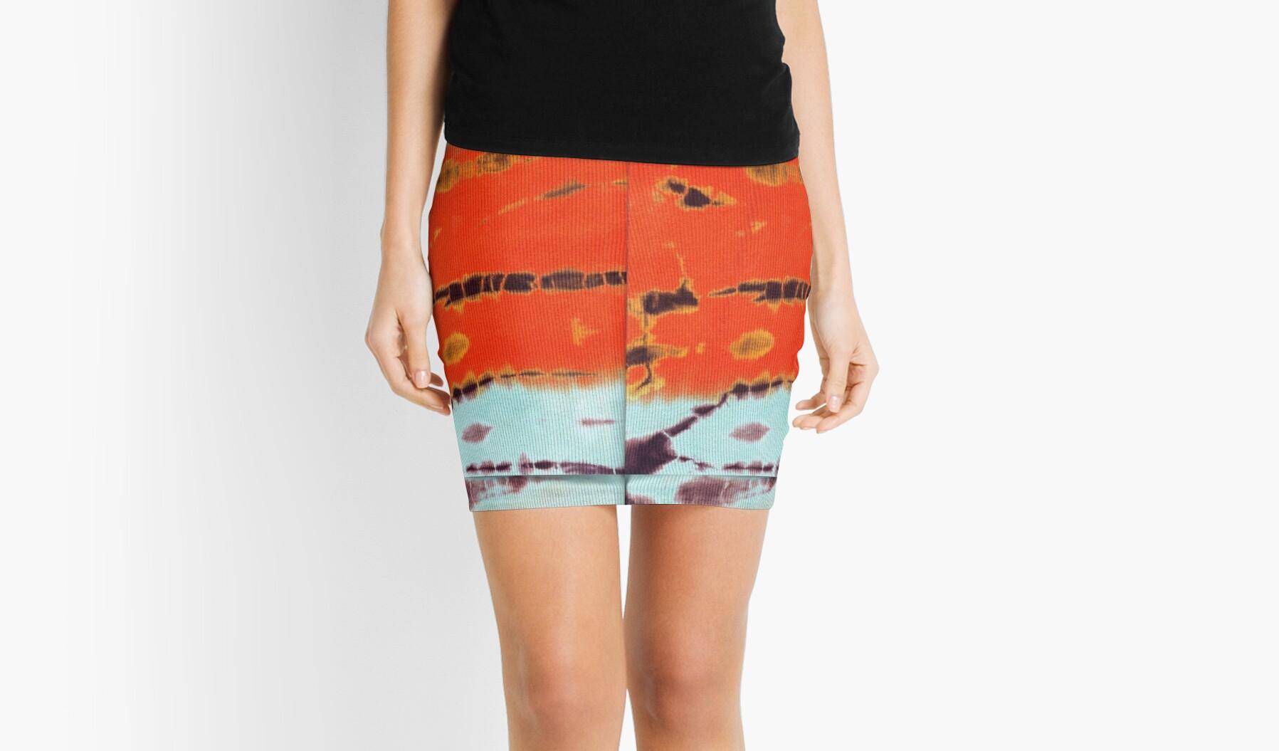 'Tie Dye 2' Mini Skirt by yonni