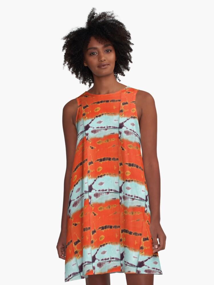 'Tie Dye 2' A-Line Dress by yonni