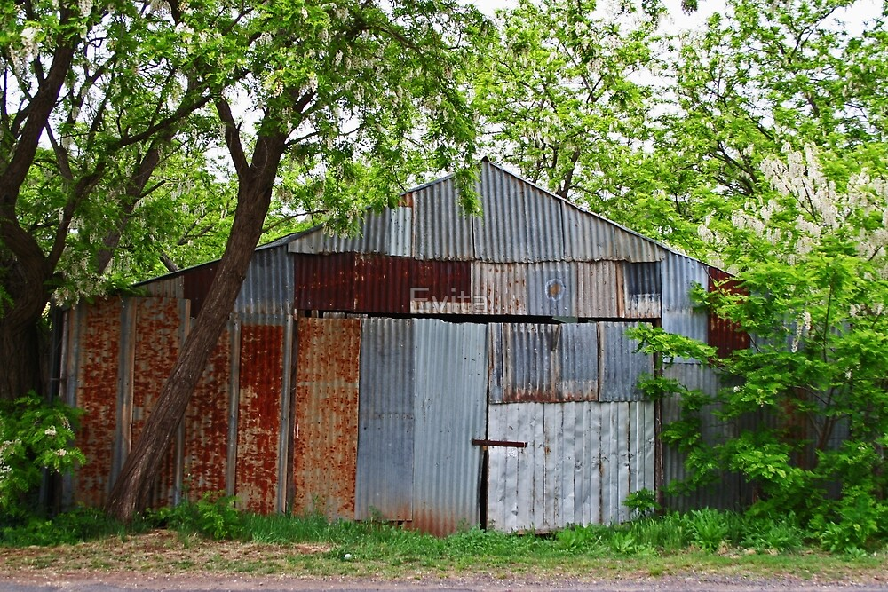 Rusty Old Shed (Barn) by Evita