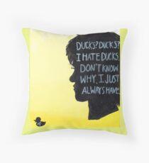 I Hate Ducks  Throw Pillow