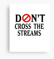 Don't Cross The Streams Canvas Print