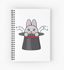 A Rabbit and a Magic Hat Spiral Notebook
