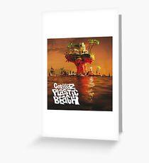 Gorillaz: Plastic Beach Greeting Card