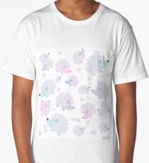 Hedgehogs Creative Art with White Background Long T-Shirt