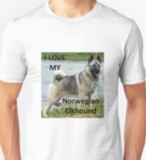 norwegian elkhound love with picture T-Shirt