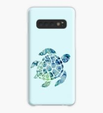 Watercolor blue and green sea turtle design  Case/Skin for Samsung Galaxy