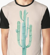 Pretty Cactus Pink and Green Desert Cacti Southwestern Home Decor Graphic T-Shirt