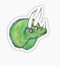 Triceratops Watercolor Sticker