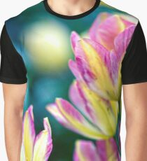 Yellow and Purple Tulips in the Spring Graphic T-Shirt