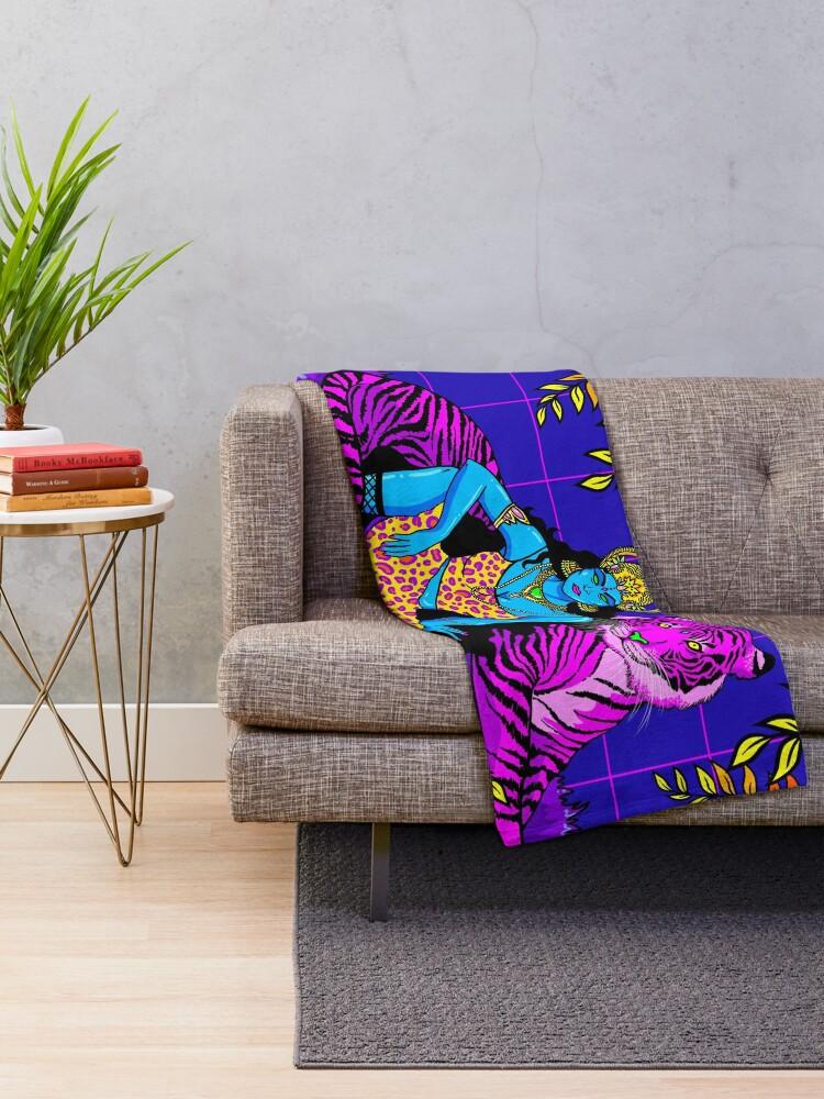 Alternate view of Jungle Queen Throw Blanket