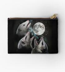 3 Opossum Moon Zipper Pouch