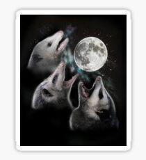 3 Opossum Moon Sticker
