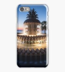 Charleston South Carolina Pineapple Fountain Scenic  iPhone Case/Skin