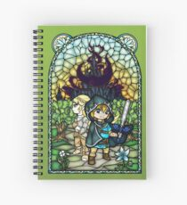 Breath of the Wild Stained Glass 2 Spiral Notebook