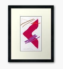 Red Arrow Framed Print