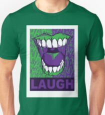 LAUGH purple Unisex T-Shirt