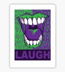 LAUGH purple Sticker