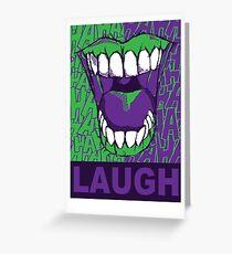 LAUGH purple Greeting Card