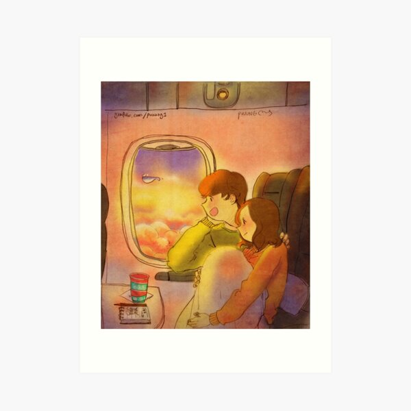 Airplane window Art Print