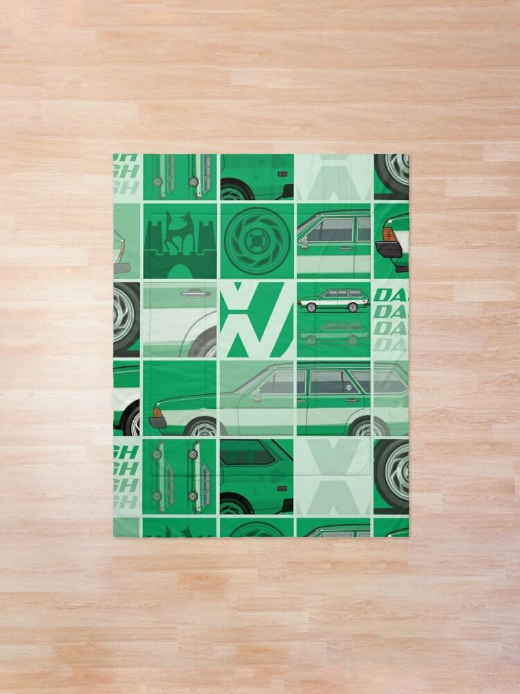 Alternate view of Kylee's Green VDub Dasher Wagon  Comforter