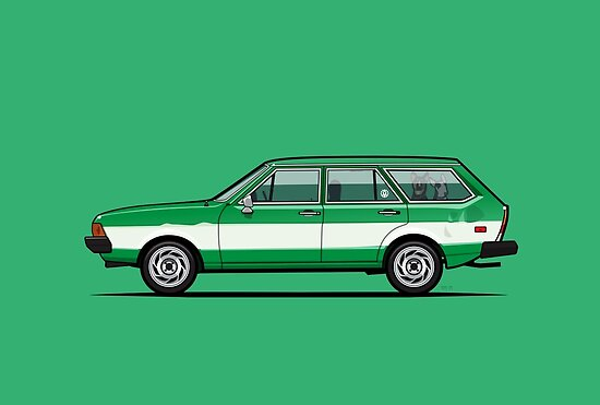 Kylee's Green VDub Dasher Wagon  by Tom Mayer