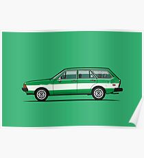 Kylee's Green VDub Dasher Wagon  Poster