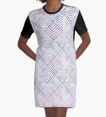 Graphic Square Watercolor Design  Graphic T-Shirt Dress