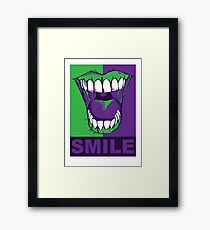 SMILE purple Framed Print