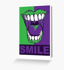 SMILE purple Greeting Card