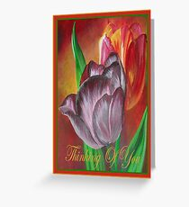 Thinking Of You - Two Tulips Greeting Card