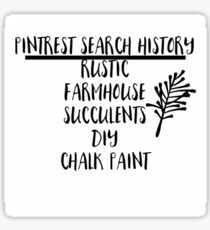 Pinterest search history Sticker