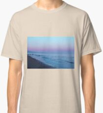 vintage sunset sky at the beach Classic T-Shirt