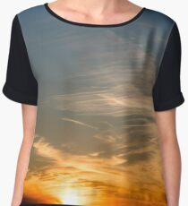 Colorful Sunset - Anglesey, North Wales Women's Chiffon Top
