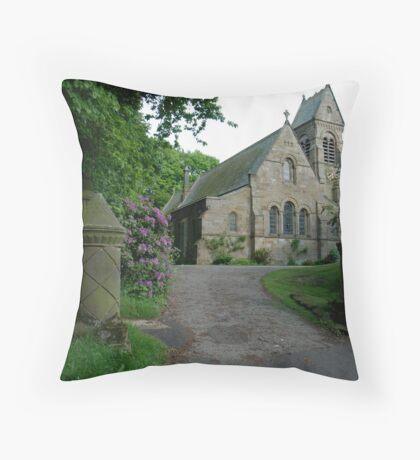 St. Hildas' church at Egton,  in the north yorks moors national park Throw Pillow