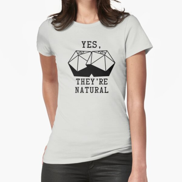 Natural D20s Fitted T-Shirt
